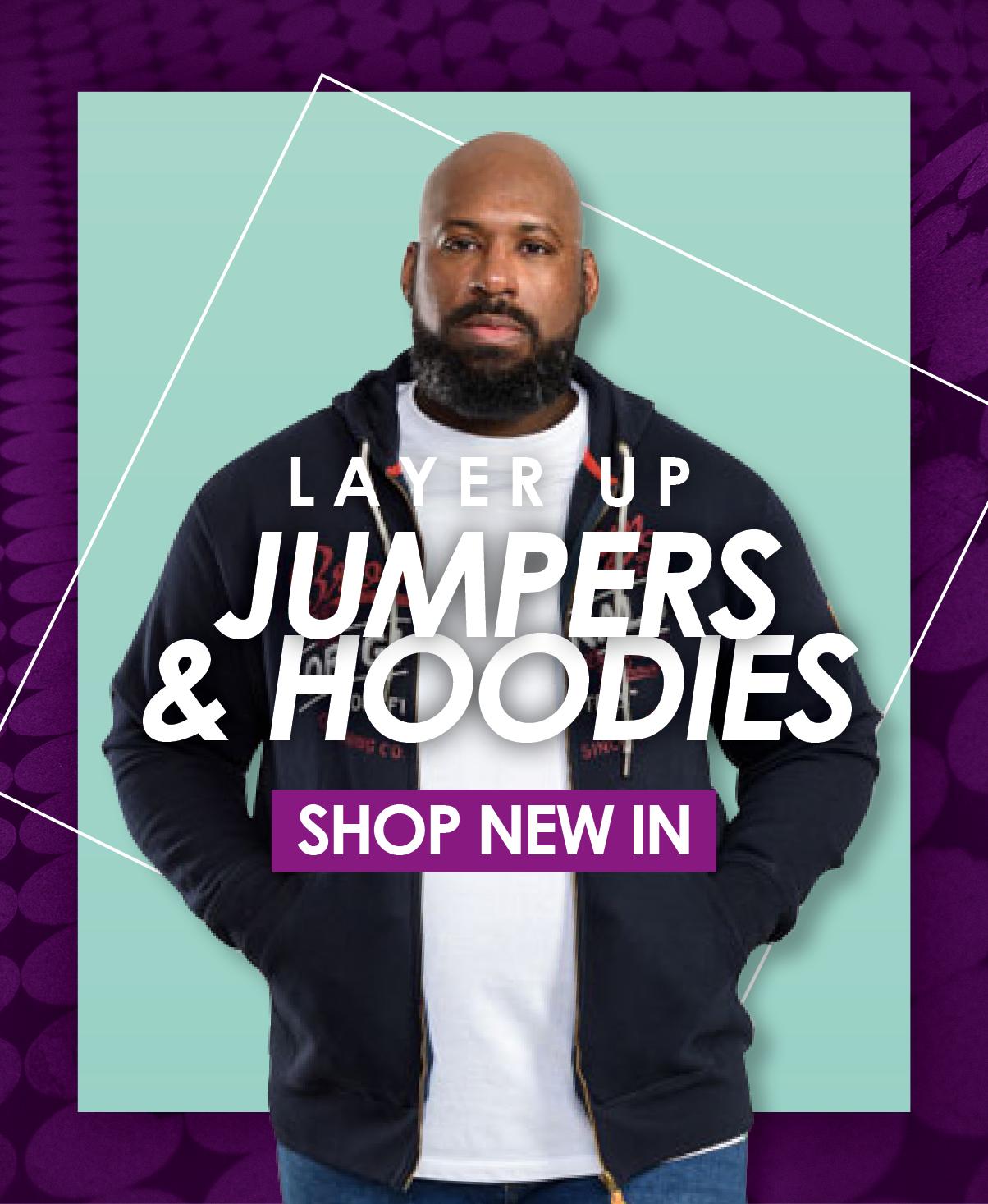 Shop Big Men's Jumpers & Hoodies